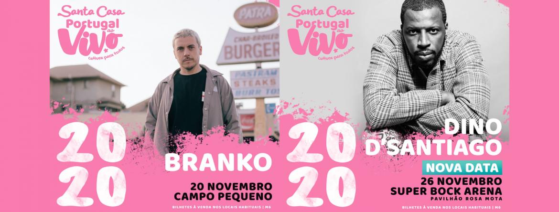 Branko em Lisboa e Dino D'Santiago no Porto